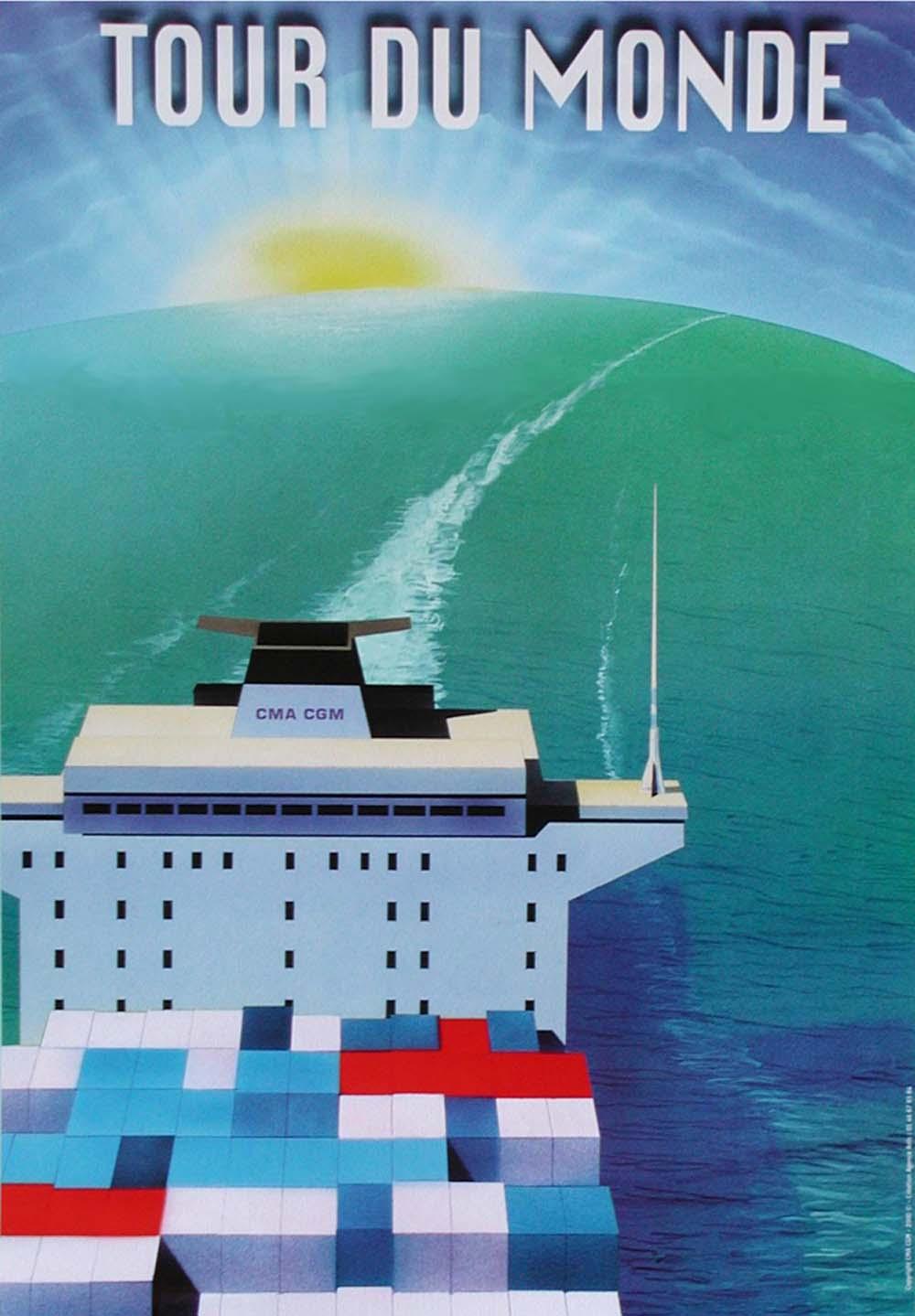 cma cgm cruise logo, tour du monde