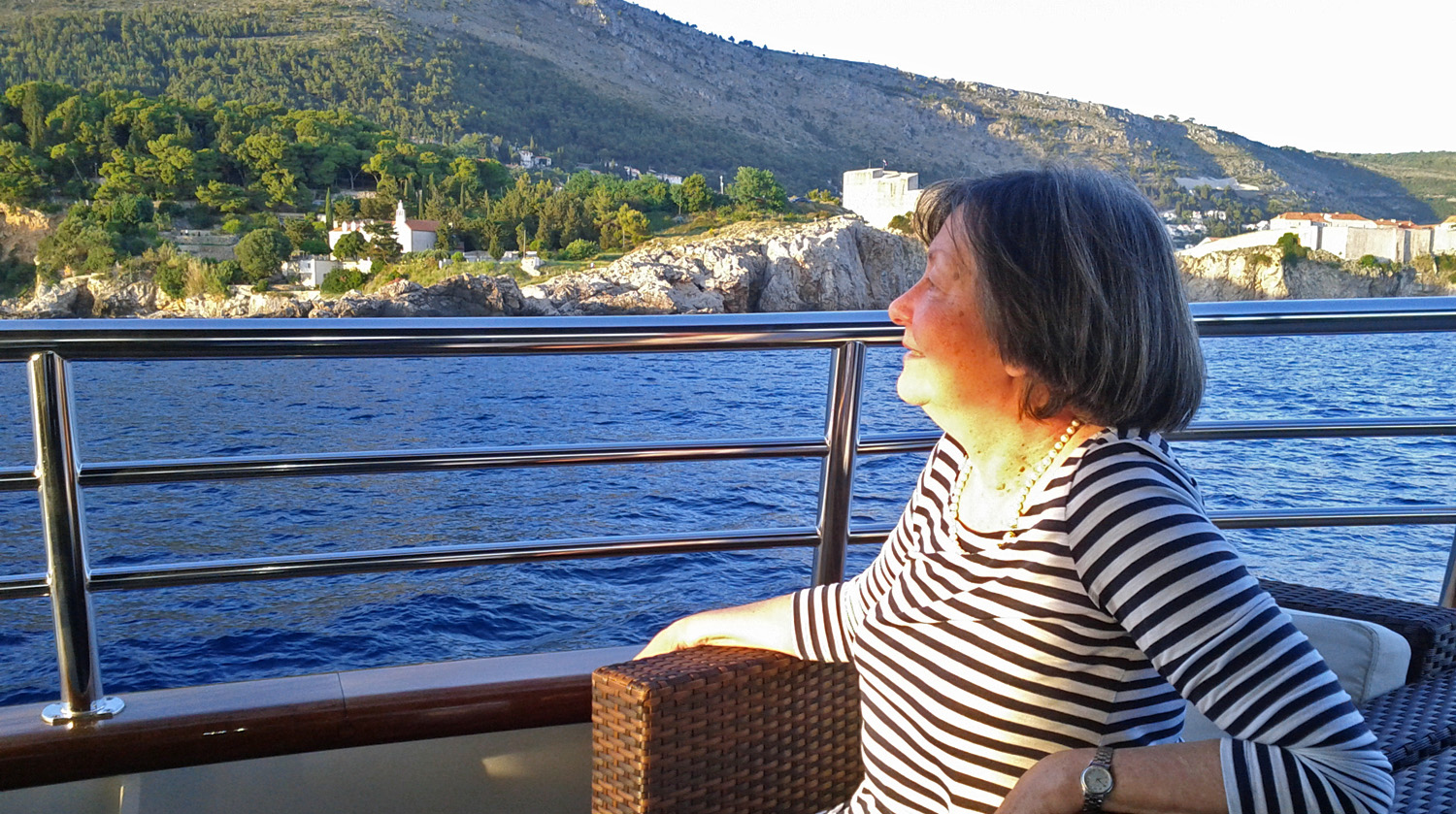 Maja Zunic, sailing past Dubrovnik, June '15