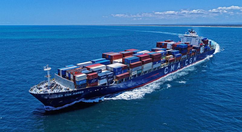 CMA CGM Amber containership