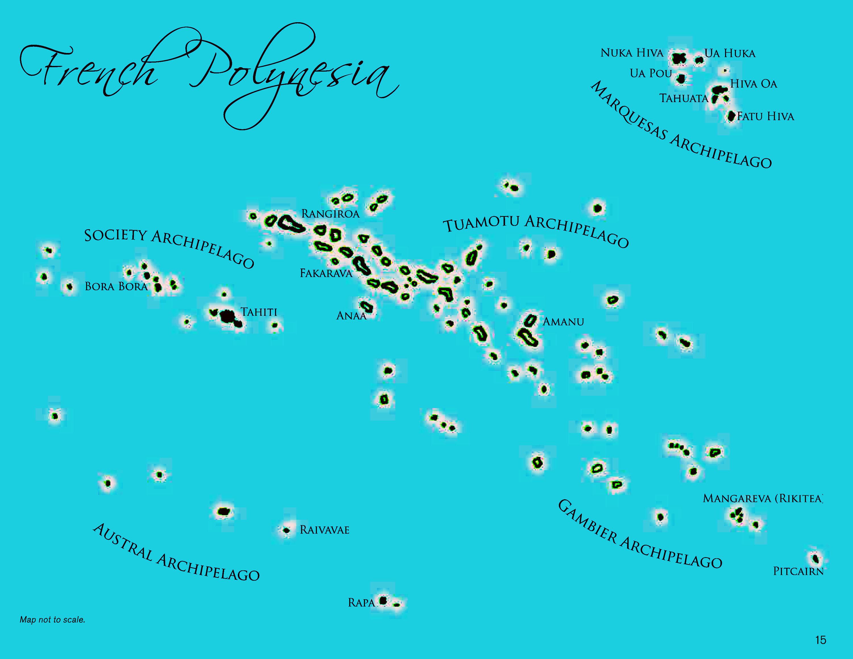 Aranui 5, voyage map